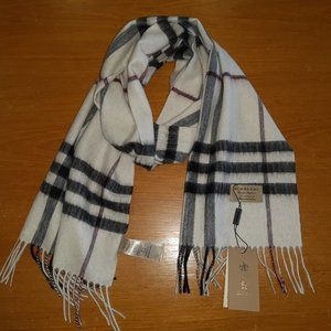BURBERRY LONDON WOMENS CASUAL %100 CASHMERE SCARF
